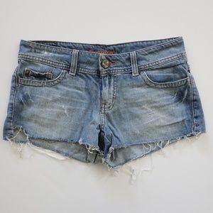 American Eagle Frayed Jeweled Jean Short 2